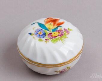 Herend Bouquet de Tulipe Round Trinket Box