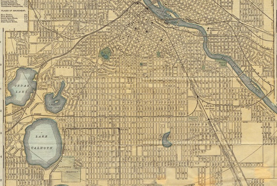 Minneapolis Old Map Minneapolis City Map Minneapolis Map - Old map of the us