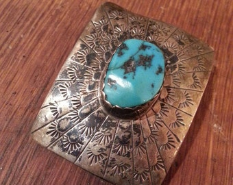 Vintage American jewelry Indian turquoise sterling silver