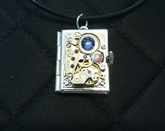 Time Piece Mechanism Locket
