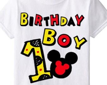 Birthday Boy Mickey Shirt