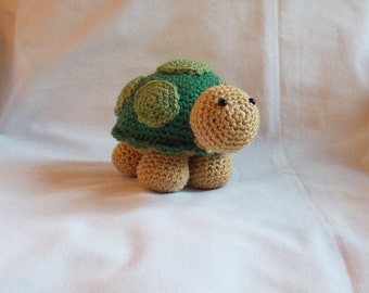 Made to order, Crochet Turtle, Amigurumi Turtle, crochet tortoise, turtle plushie, new baby gift, nursery decoration