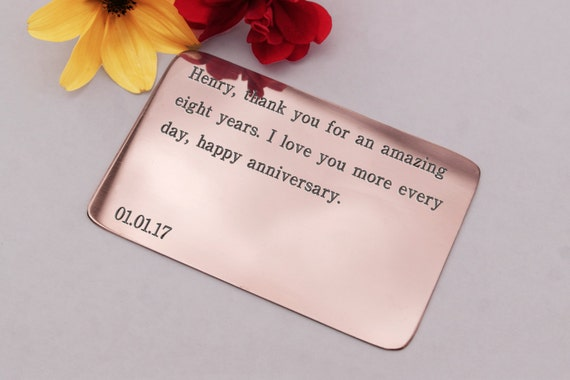 8th Wedding Anniversary Gift Ideas For Husband: 8th Anniversary Gifteight Year Anniversarygift For
