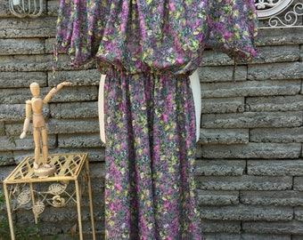 Vintage 1970's Floral Dress * Size Small * Patty O'Neil