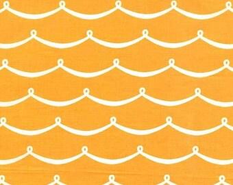 Michael Miller Sea Buddies New Wave Mango - PC6623 - Nautical Cotton Fabric