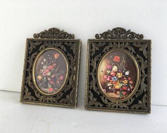 Vintage pair of square metal frames