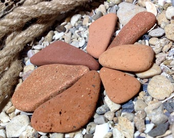 Sea Terracotta Tiles Pieces Beach Pottery Pieces Tiles For Mosaic Craft Sea Find Beach Find Raw Sea Pottery Genuine Beach Terracotta Pieces