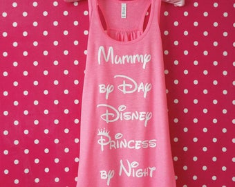 Mummy By Day Disney Princess By Night Tank Top. Disney Princess Racerback Vest. Princess Tank Top. Princess Vest Top.
