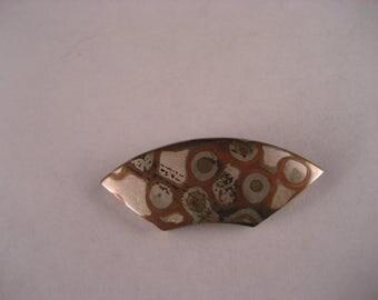 Mokume Sterling Silver /Copper Shakudo