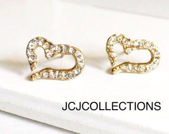 Gold Open CZ Earrings