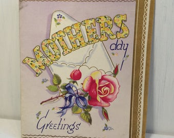 Vintage 1950s Mothers Day Card - Greeting Card - Mothers Day Gift -