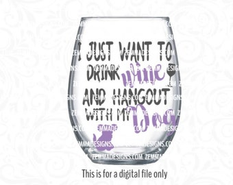 dog svg - wine svg - dog svg files - wine glass svg files - svg for wine glass - pet svg - puppy svg