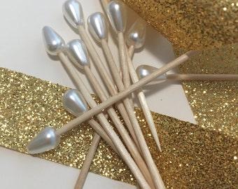 25 Pearl Toothpicks