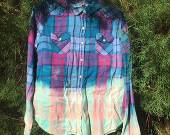 Dip dyed flannels