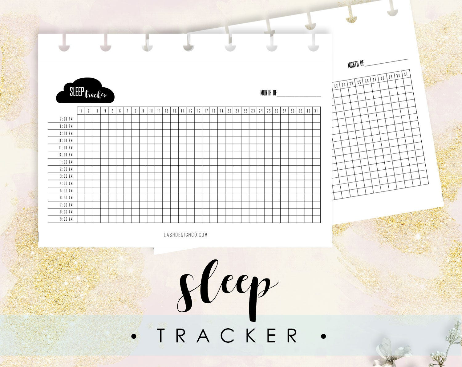 It's just a picture of Delicate Sleep Tracker Printable