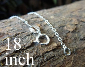 ONE Sterling Silver Chain/ Chain/ Silver Chain/ Sterling Chain/ 18 inches/Cable Chain/Sterling SIlver Cable Chain/ Sterling Cable Chain