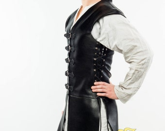 """leather doublet """"Corsar"""";LARP;Cosplay;leather"""
