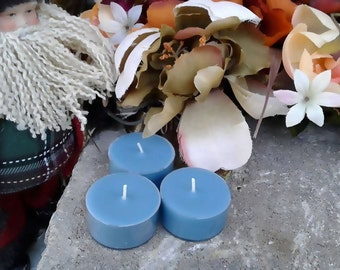 Holiday Frost Yule Christmas Soy Wax Tealight Candles