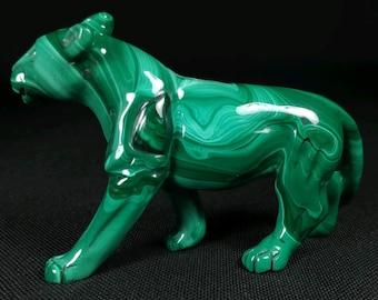 Malachite lioness
