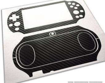 Playstation VITA 2000 (PS CITA Slim) - Carbon Fibre Protective Skin Kit
