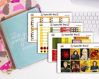 Winter is Coming GOT Planner Sticker Kit