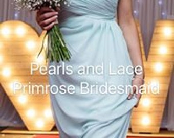 Pearls and Lace Bridesmaid Dresses  Primrose Sweet Heart Chiffon Dress