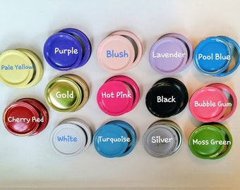 Mason Jar Colorful Lids / Mason Jar Replacement Lids / Mason Jar Lids & Rings / Mason Jar Organizer
