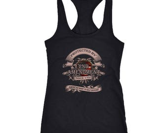 Gun Rights Racerback Tank Top T-Shirt. Funny Gun Rights Tank. Cool Shirt for Gun Rights