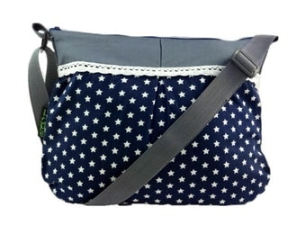 Bag rockabilly Star Blue grey
