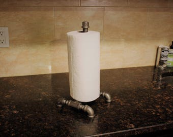 Industrial Iron Pipe Paper Towel Holder