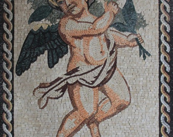 Love Cupid Flower Delivery Figure Marble Mosaic FG50