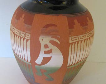 Native American Navajo Pottery Hand Crafted Pot-Susie San
