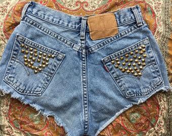 Reworked Levi's Denim Cut Off Shorts