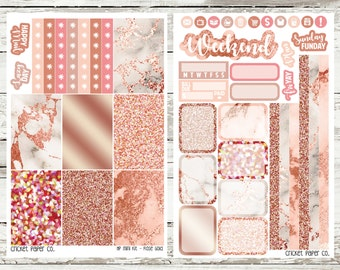 Rose Gold HAPPY PLANNER Stickers