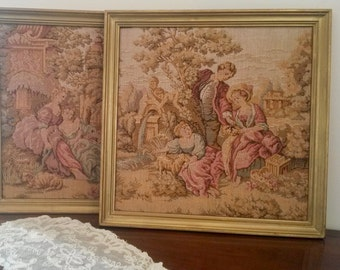 Tapestries, Vintage Repros, Two French Tapestries, Wall Hangings, Manor, Pretty Pictures