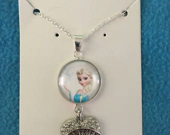 Best friend glass dome necklace