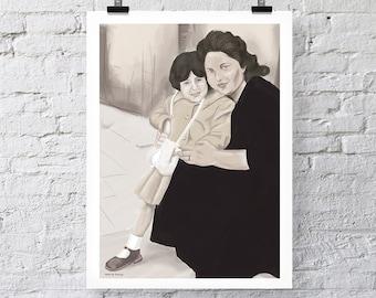 Mum and YiaYia Print Wall Art