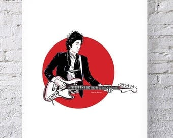 Limited Edition Bob Dylan Print Wall Art illustration