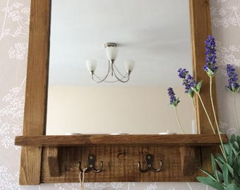 Reclaimed Mirror, Pallet Mirror, Rustic Mirror, Pallet Wood, Bathroom Mirror, Hallway Mirror, Reclaimed Wood, Framed Mirror, Tealight Mirror