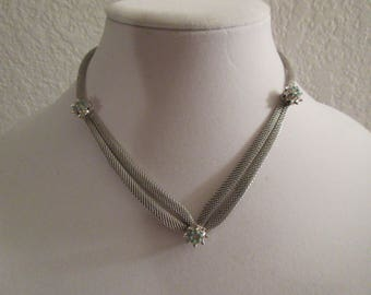 Vintage Absolute Stunning Silver Tone with Turquoise Necklace