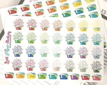 Laundry Mountain - set of 66 stickers for your Erin Condren, Inkwell Press, Happy Planner or other calendar or planner!
