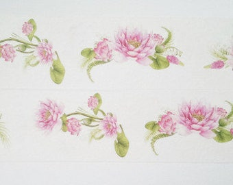Design Washi tape water lilies pink