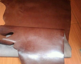 Oil Leather Sheet Genuine Cow Leathercraft Piece 1 x 0.69' x 0.95' Pull Up