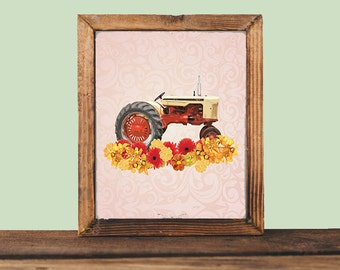 Case Tractor Print, Farm Life Artwork, Case Decor