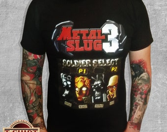 METAL SLUG 3 select player t-shirt