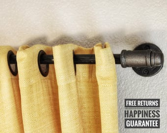 Industrial pipe curtain rod ⋆ industrial curtain rod ⋆ pipe curtain rod ⋆ curtain rod ⋆ rustic curtain rod