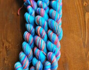 Bermuda Shorts MINI SKEIN, Hand Dyed Yarn, SW Sock