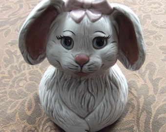 Vintage Ceramic Rabbit/Bunny Wide-mouth Jar Topper - (the jar is NOT included)