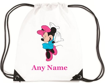 Personalised Childs MINNIE MOUSE  PE/Swim/School Bag