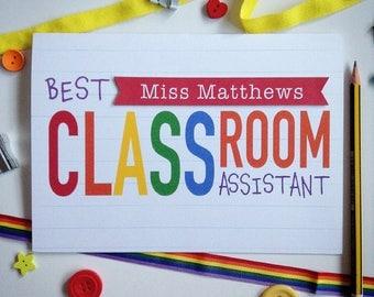 Classroom Assistant card